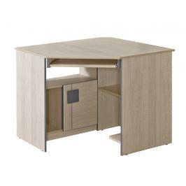 Pracovní rohový stůl v dekoru dub santana s možností výběru barvy typ G11 KN861