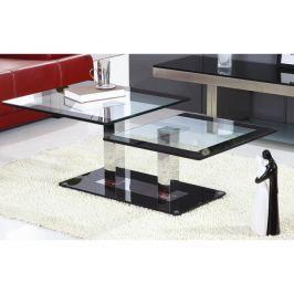 Konferenční stolek v luxusním skleněném provedení černá GABRIEL
