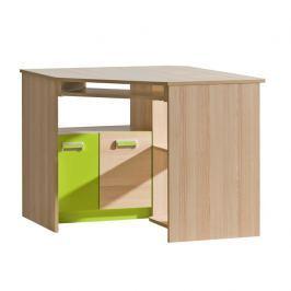 PC stůl rohový v jednoduchém moderním provedení zelená EGO L11