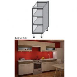 Kuchyňská skříňka policová, wenge, JURA IA DO-20