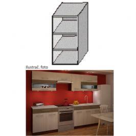 Kuchyňská skříňka policová, wenge, JURA NEW IA GO-30