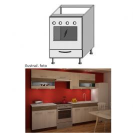 Kuchyňská skříňka na sporák, rigoleto light/dark, JURA NEW IA ZK-60