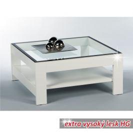 Konferenční stolek v moderním designu bílá v extra vysokém lesku ATTAC