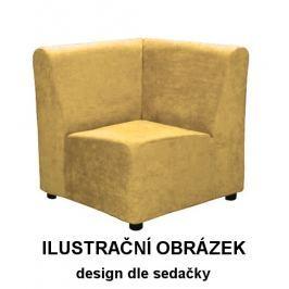 Rohový díl CEZAR I kůže k sestavení sedačky na míru