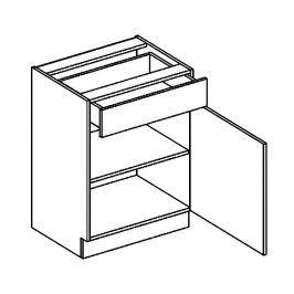 D60/S1 dolní skříňka se zásuvkou kaštan KN2000