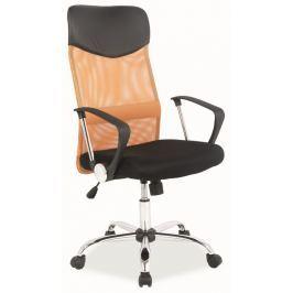 Kancelářská otočná židle v oranžové a černé barvě KN1033
