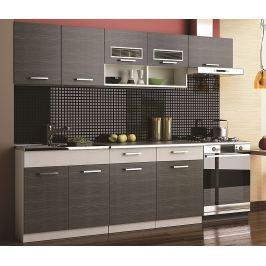 Kuchyňská linka 240 cm grafit bis KN2000 II