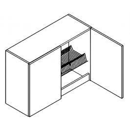 W80SU/58 horní skříňka s odkapávačem grafit bis KN2000