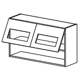 WS100/58 PD horní vitrína dvojdvéřová grafit bis KN2000