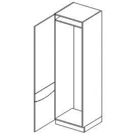 D60LO skříňka na vestavnou lednici SMILE jas/cap levá