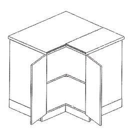 DRP dolní rohová skříňka SMILE jas/cap
