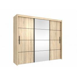 Šatní skříň s posuvnými dveřmi 250 dub sonoma OF006