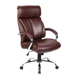 Kancelářské křeslo v luxusním provedení ekokůže hnědá CABELA 49