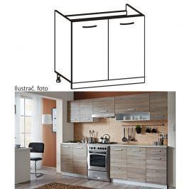 Skříňka do kuchyně, dřezová, dub sonoma / bílá, Cyra D 80/84 CZ