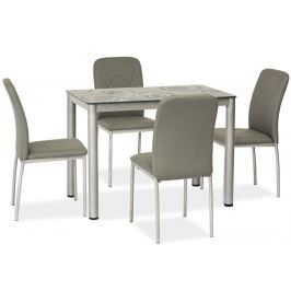 Jídelní stůl 100x60 cm v šedé barvě KN553