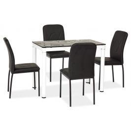 Jídelní stůl 100x60 cm s černou deskou KN553