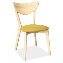 Pohodlná jídelní židle s čalouněným sedákem ve světle zelené barvě KN267