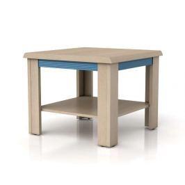 Konferenční stolek CAPS LAW/60 dub světlý belluno/modrá lišta