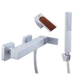 Baterie sprchová se sprchou a pevným držákem LOIRA LR280.5/1 chrom/teak