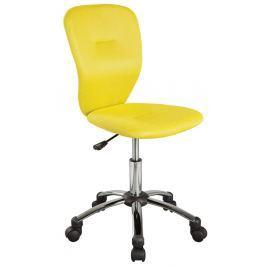 Kancelářská židle žluté barvy KN378