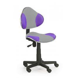 Židle dětská šedo-fialová F177