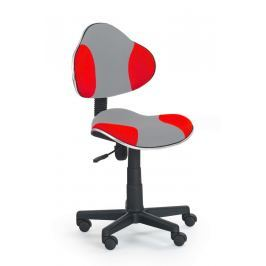 Židle dětská šedo-červená F177