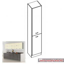 Potravinová skříň DOPRA šedá vysoký lesk 40 cm