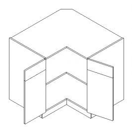 DRP dolní rohová skříňka KN1810 D/B