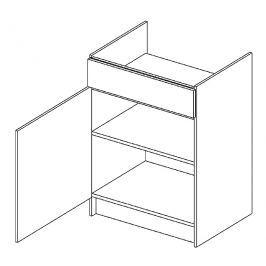 D60PC skříňka pod varnou desku KN1810 D/B levá