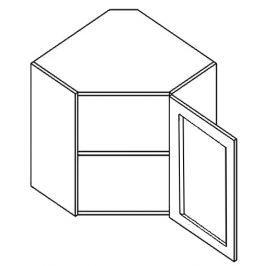WR60WP h. vitrína rohová SANDY STYLE čiré sklo 60x60 cm pravá