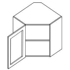 WR60WL h. vitrína rohová SANDY STYLE čiré sklo 60x60 cm levá