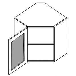 WR60WL h. vitrína rohová SANDY STYLE mraž. sklo 60x60 cm levá