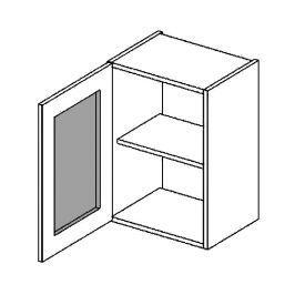 W40WL h. vitrína 1-dvéřová SANDY STYLE mraž. sklo
