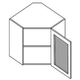 WR60W horní vitrína rohová 60x60 cm KN407 mražené sklo