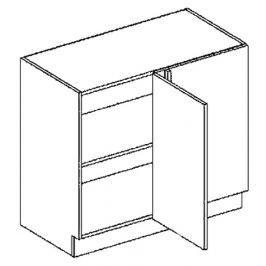 DNP pravá dolní skříňka 100 cm do rohu rovná KN407