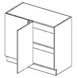 DNP levá dolní skříňka 100 cm do rohu rovná KN407