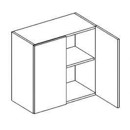 W60 horní skříňka dvojdvéřová PREMIUM de LUX olše