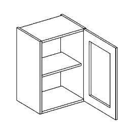 W40WP h. vitrína 1-dvéřová PREMIUM de LUX hruška čiré sklo