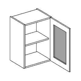 W40WPMR h. vitrína 1-dvéřová PREMIUM de LUX olše mraž. sklo