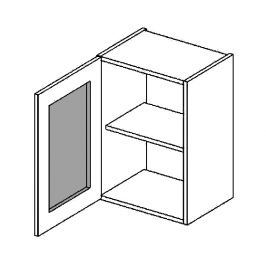 W40WLMR h. vitrína 1-dvéřová PREMIUM de LUX olše mraž. sklo