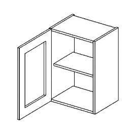 W40WL h. vitrína 1-dvéřová NORA hruška čiré sklo
