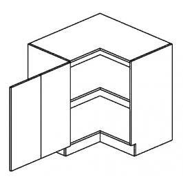 DRPL d. skříňka rohová NORA 80x80 cm hruška