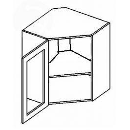 WR60WL h. vitrína rohová MERLIN čiré sklo