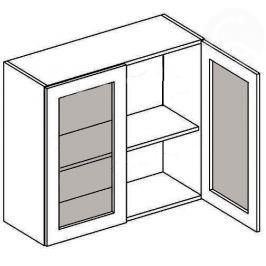 W80W h. vitrína 2-dvéřová MERLIN mraž. sklo