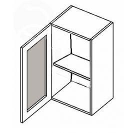 W40WL h. vitrína 1-dvéřová MERLIN mraž. sklo