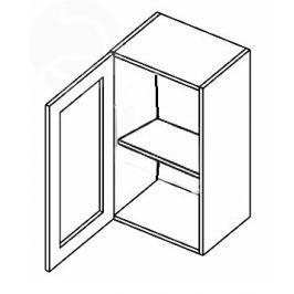W40WL h. vitrína 1-dvéřová MERLIN čiré sklo