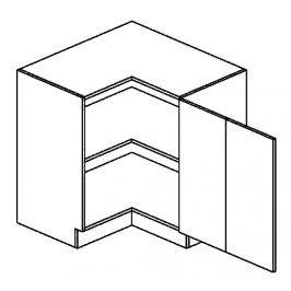 DRPP d. skříňka rohová PREMIUM 80x80 cm hruška