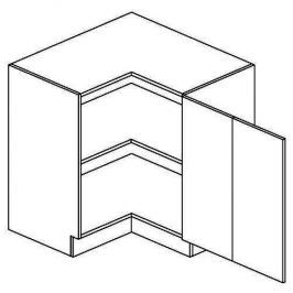 DRPP d. skříňka rohová NORA de LUX 80x80 cm hruška