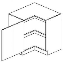 DRPL d. skříňka rohová NORA de LUX 90x90 cm hruška