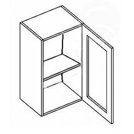W40WP h. vitrína 1-dvéřová NORA de LUX hruška čiré sklo